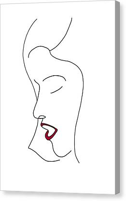 Fashion Sketch Canvas Print
