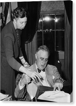 Fdr Presidency. First Lady Eleanor Canvas Print