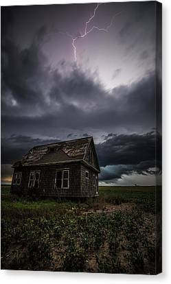 Abandoned House Canvas Print - Fear by Aaron J Groen