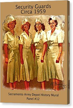 Female Security Guards Canvas Print by Dean Gleisberg