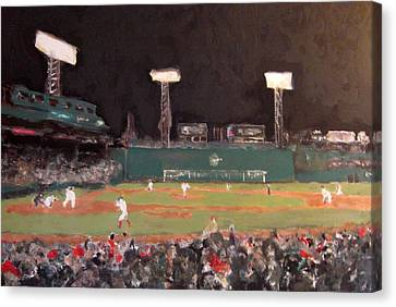 Fenway Night Canvas Print