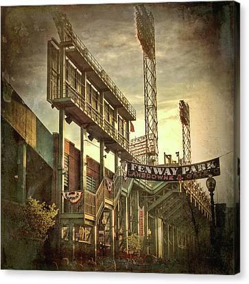 Fenway Park - Lansdowne Street - Boston Canvas Print by Joann Vitali