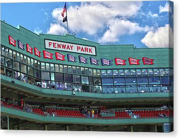 Canvas Print featuring the photograph Fenway Park by Mitch Cat