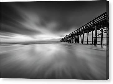 Canvas Print featuring the photograph Fernandina Beach Pier by Peter Lakomy