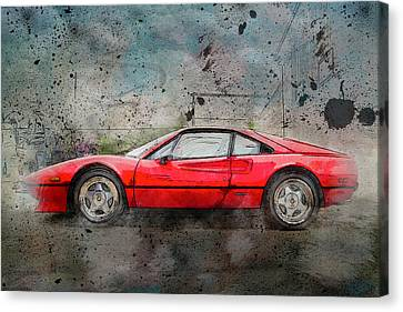 Canvas Print featuring the photograph Ferrari 308 by Joel Witmeyer