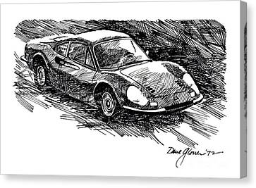 Ferrari Dino Canvas Print by David Lloyd Glover
