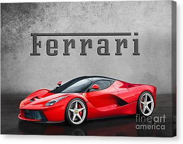 Ferrari La Ferrari Canvas Print by Mohamed Elkhamisy