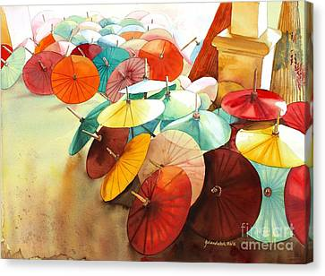 Festive Umbrellas Canvas Print