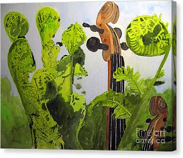 Fiddleheads Canvas Print by Sandy McIntire