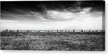 Canvas Print featuring the photograph Fields Of The Elysium Locomotive by John Williams