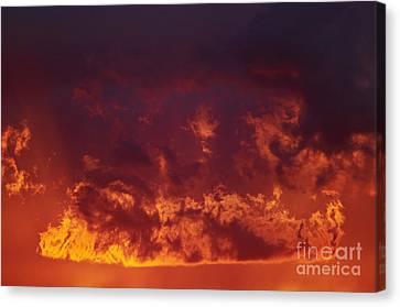 Fiery Clouds Canvas Print by Michal Boubin