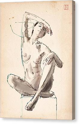Figure Study Canvas Print by H James Hoff