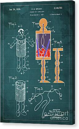 Figure Toy Container Patent Year 1939 Canvas Print by Pablo Franchi