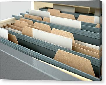 Filing Cabinet Drawer Open Generic Canvas Print by Allan Swart