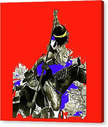 Film Homage Cameron Mitchell The High Chaparral Fighting Apache Publicity Photo Collage Canvas Print