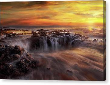 Fire And Water Canvas Print by David Gn