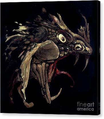 Fire Dragon Canvas Print by Liz Molnar