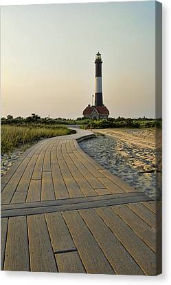 Fire Island Lighthouse Canvas Print by Alexander Mendoza