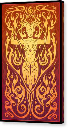 Fire Spirit Canvas Print by Cristina McAllister
