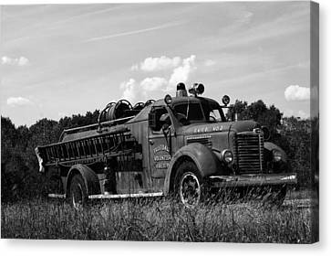 Fire Truck 2 Canvas Print by Off The Beaten Path Photography - Andrew Alexander