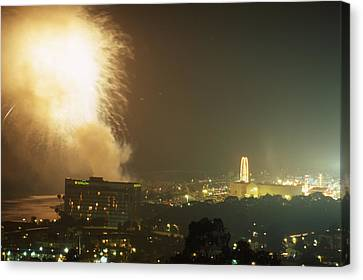 Pyrotechnic Canvas Print - Fireworks - Ventura County Fair by Soli Deo Gloria Wilderness And Wildlife Photography