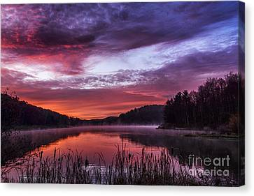 First Light On The Lake Canvas Print by Thomas R Fletcher