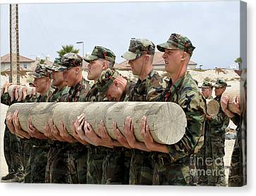 First Phase Buds Students Perform Log Canvas Print by Stocktrek Images