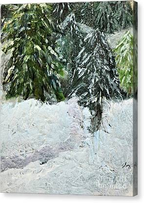 First Snow Canvas Print by Sharon Eng