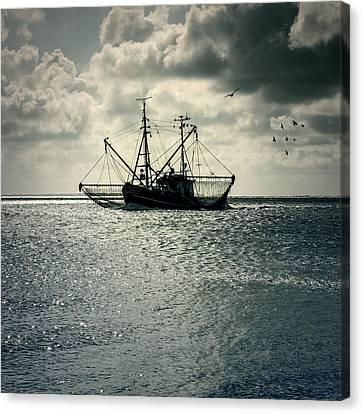 Fishing Boat Canvas Print by Joana Kruse
