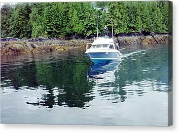 Canvas Print featuring the photograph Fishing Boat by Judyann Matthews