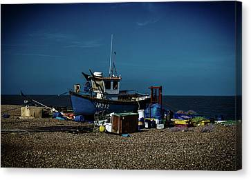 Fishing Boat Canvas Print by Martin Newman