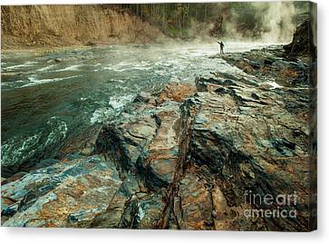 Canvas Print featuring the photograph Fishing Day by Iris Greenwell