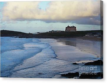 Canvas Print featuring the photograph Fistral Beach by Nicholas Burningham
