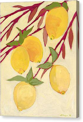 Five Lemons Canvas Print by Jennifer Lommers