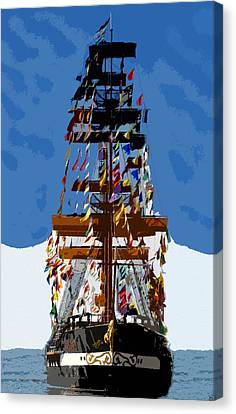 Flags Of Gasparilla Canvas Print by David Lee Thompson