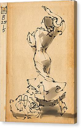 Flamenco Canvas Print by H James Hoff