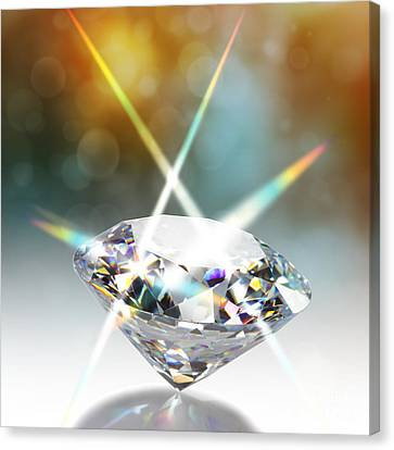 Flashing Diamond Canvas Print by Atiketta Sangasaeng