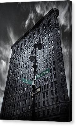 Canvas Print featuring the photograph Flatiron Noir by Jessica Jenney