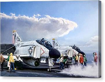 Carrier Canvas Print - Flight Deck by Peter Chilelli