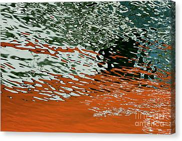 Canvas Print featuring the photograph Floating On Blue 43 by Wendy Wilton