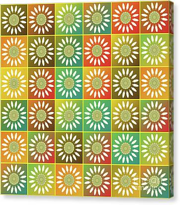 Floral Tessellation Canvas Print by Gaspar Avila