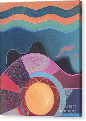 Inner World Canvas Print - Flow by Helena Tiainen