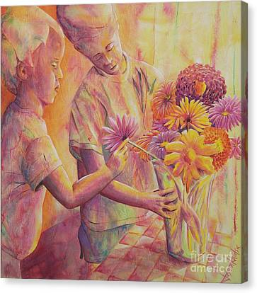Flower Arranging Canvas Print