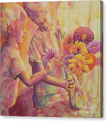 Flower Arranging Canvas Print