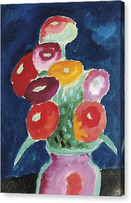 Flowers In A Vase Canvas Print by Alexej von Jawlensky