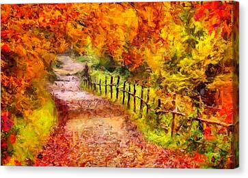 Fall Foliage Path 2 Canvas Print