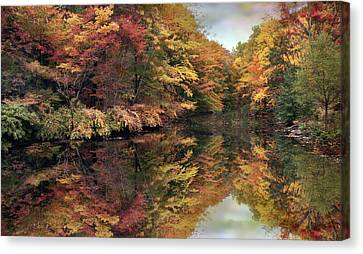 Canvas Print featuring the photograph Foliage Reflections by Jessica Jenney