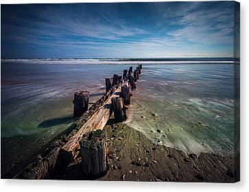Canvas Print featuring the photograph Folly Beach by RC Pics