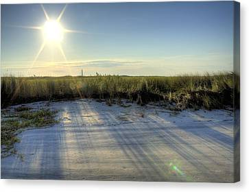 Folly Beach Sunrise Over Morris Island Canvas Print by Dustin K Ryan
