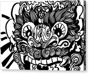 Foo Dog Canvas Print by Shih Chang Yang